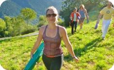 Annie, participant at Soglio Yoga Retreat