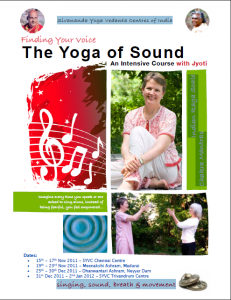 Jody Tull teaches the Yoga of Sound in India