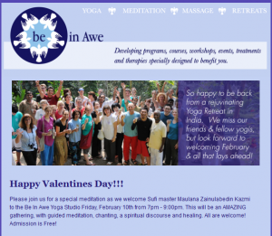 be in awe newsletter